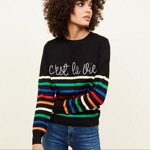 NWOT New Look C'est La Vie slogan sweater jumper